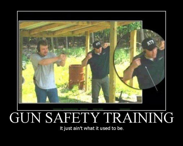 Remember this image when you next think that time on the range makes you a badass.