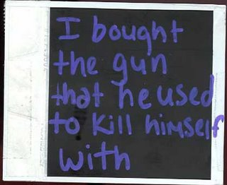 I don't have a joke for this one, because it's not funny. Postsecret.com